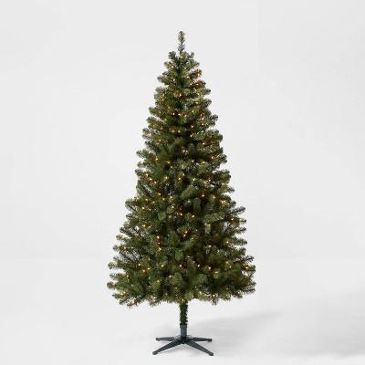 7ft Pre-lit Artificial Christmas Tree Alberta Spruce Clear Lights - Wondershop™