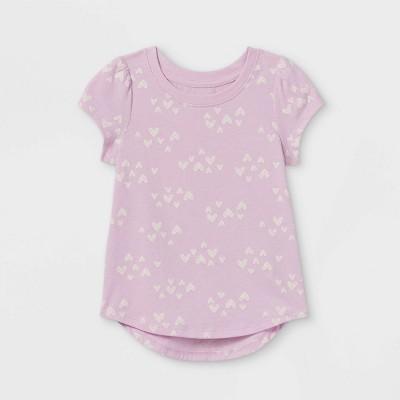Toddler Girls' Heart Short Sleeve T-Shirt - Cat & Jack™ Purple