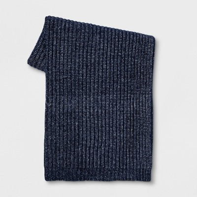 Marled Knit Throw Blanket Blue - Threshold™