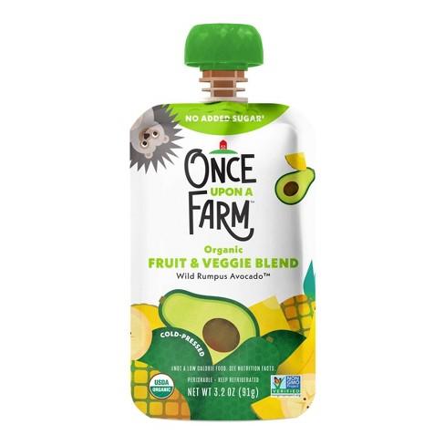 Once Upon a Farm Organic Wild Rumpus Avocado Fruit & Veggie Blend - 3.2oz Pouch - image 1 of 4