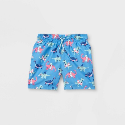 Toddler Boys' Dino Print Swim Trunks - Cat & Jack™ Blue