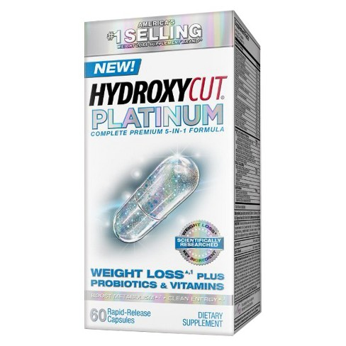 Hydroxycut Platinum Weight Loss Plus Probiotics & Vitamins Dietary Supplement Capsules - 60ct - image 1 of 1