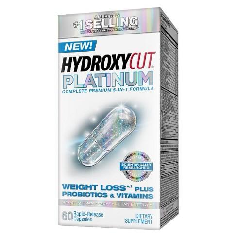 Hydroxycut Platinum Weight Loss Plus Probiotics Vitamins Dietary Supplement Capsules 60ct