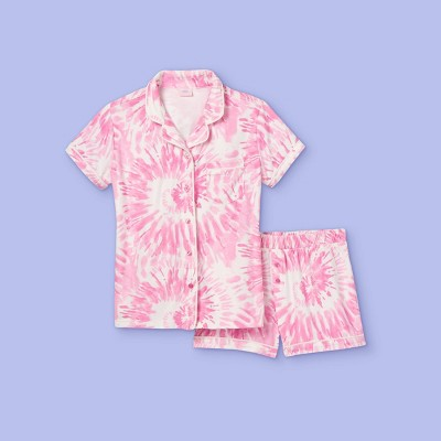 Girls' 2pc Tie-Dye Pajama Set - More Than Magic™ Pink