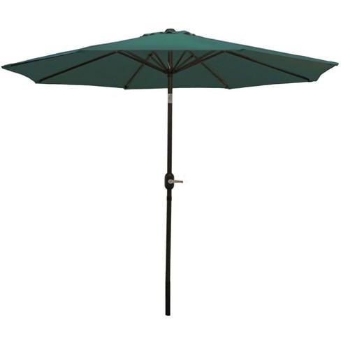 Aluminum Market Tilt Patio Umbrella 9' - Green - Sunnydaze Decor - image 1 of 4
