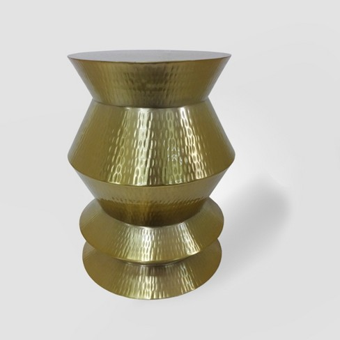 Beveled Indoor/Outdoor Accent Table Gold - Opalhouse™ - image 1 of 4