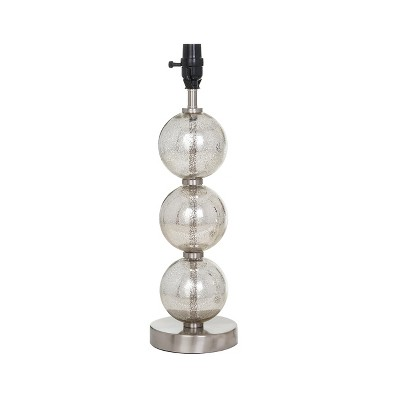 Large Stacked Glass Ball Table Lamp Base (Includes Energy Efficient Light Bulb)Nickel - Threshold™