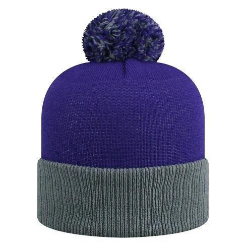 a32809285 NCAA LSU Tigers Pom Knit Hat