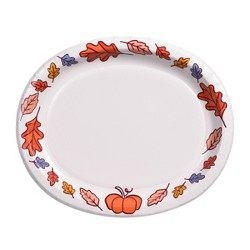 10ct Traditional Print Disposable Dinnerware - Spritz™