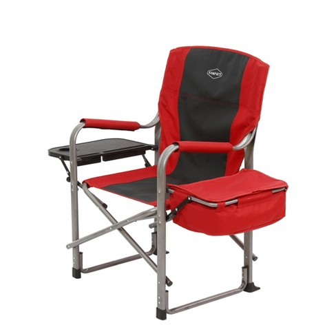 Kamp Rite Outdoor Camp Folding Director S Chair With Side Table Cooler Red Target