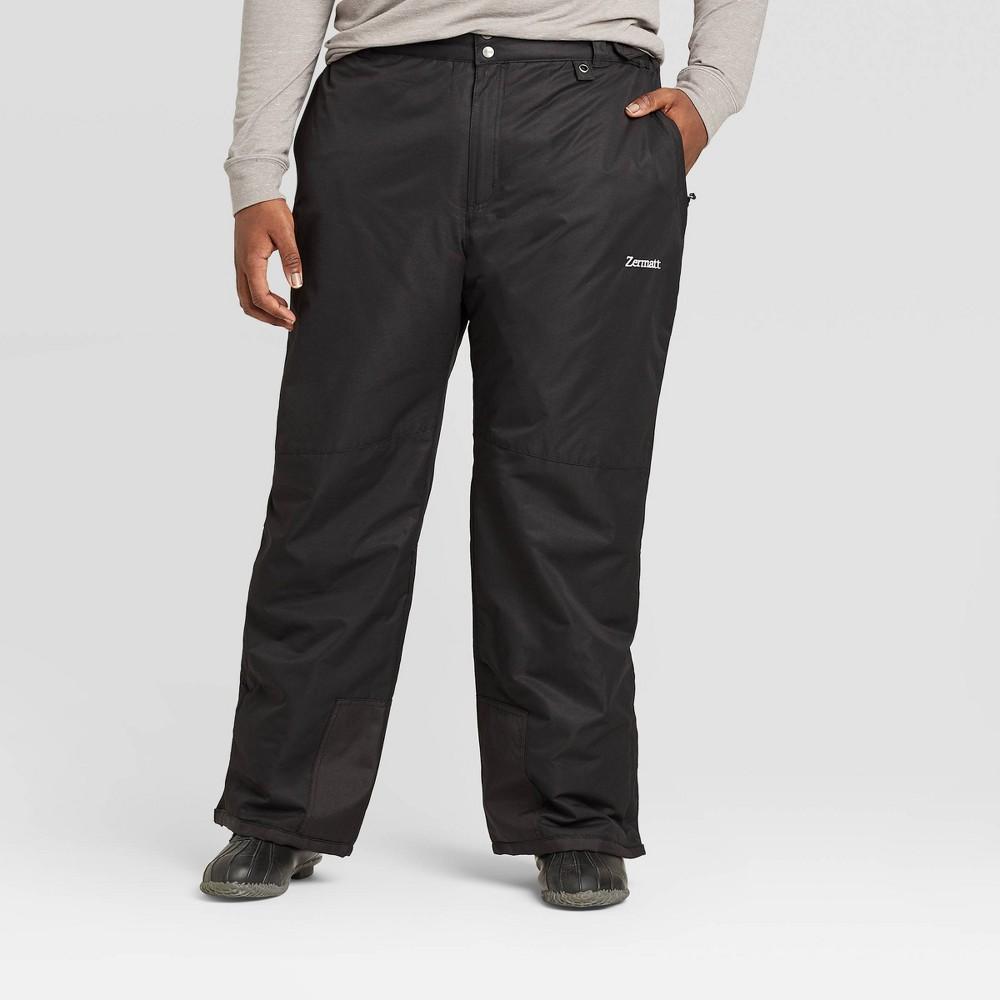 Image of Men's Big & Tall Outdoor Snow Pants - Zermatt Black 6XL