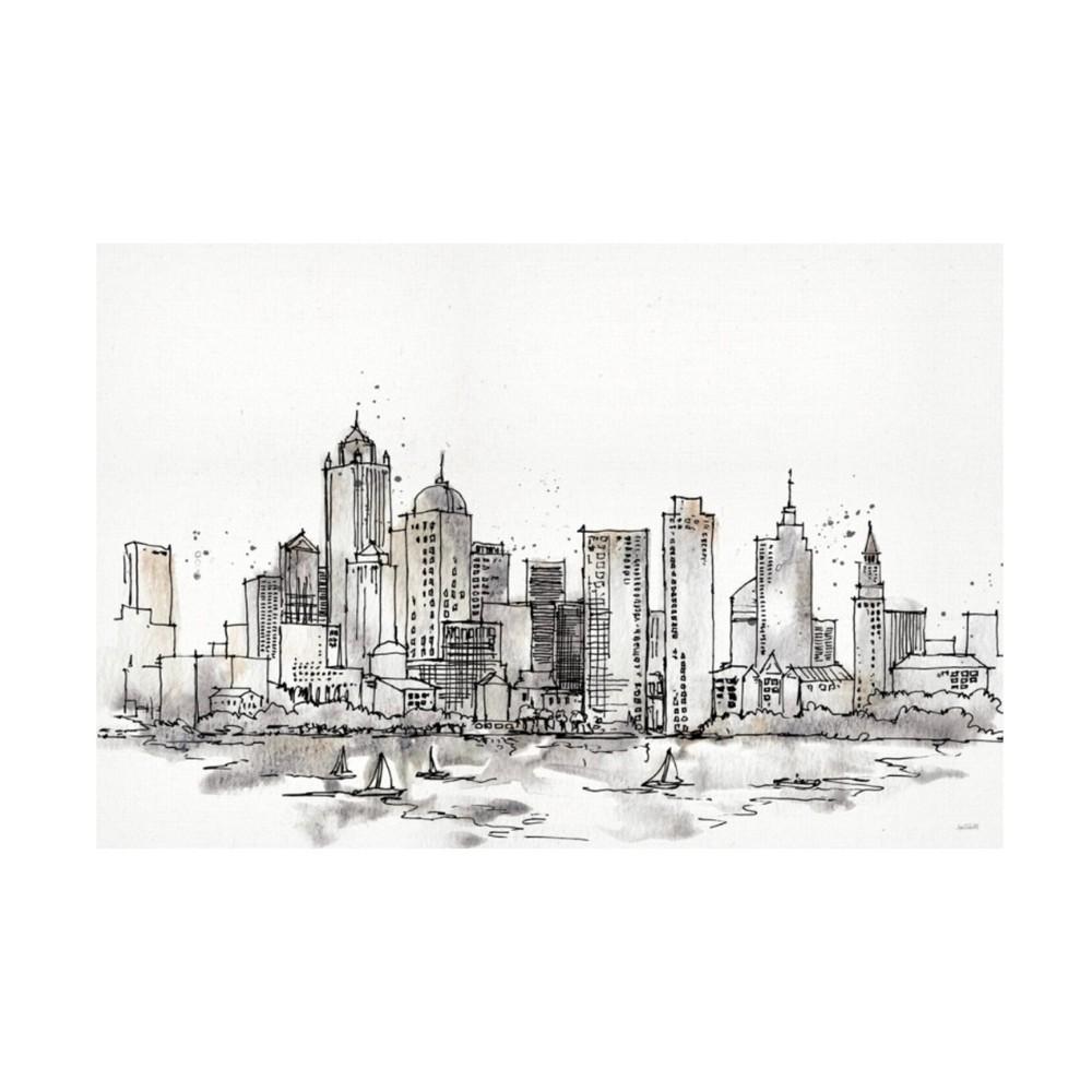 30 34 X 47 34 Anne Tavoletti 39 Skyline Sketches Iii No Words Flowers 39 Unframed Wall Canvas Trademark Fine Art