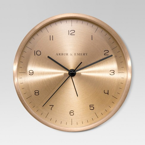 "5.5"" Decorative Wall Clock - Brass - Threshold™ - image 1 of 1"