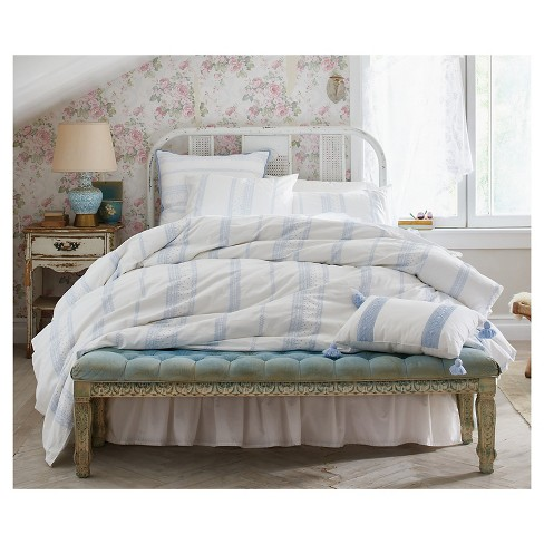 Bohemian Embroidered Duvet Cover Set Simply Shabby Chic Target