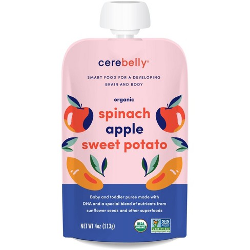 Cerebelly Organic Spinach Apple Sweet Potato Baby Food Pouch - 4oz - image 1 of 3