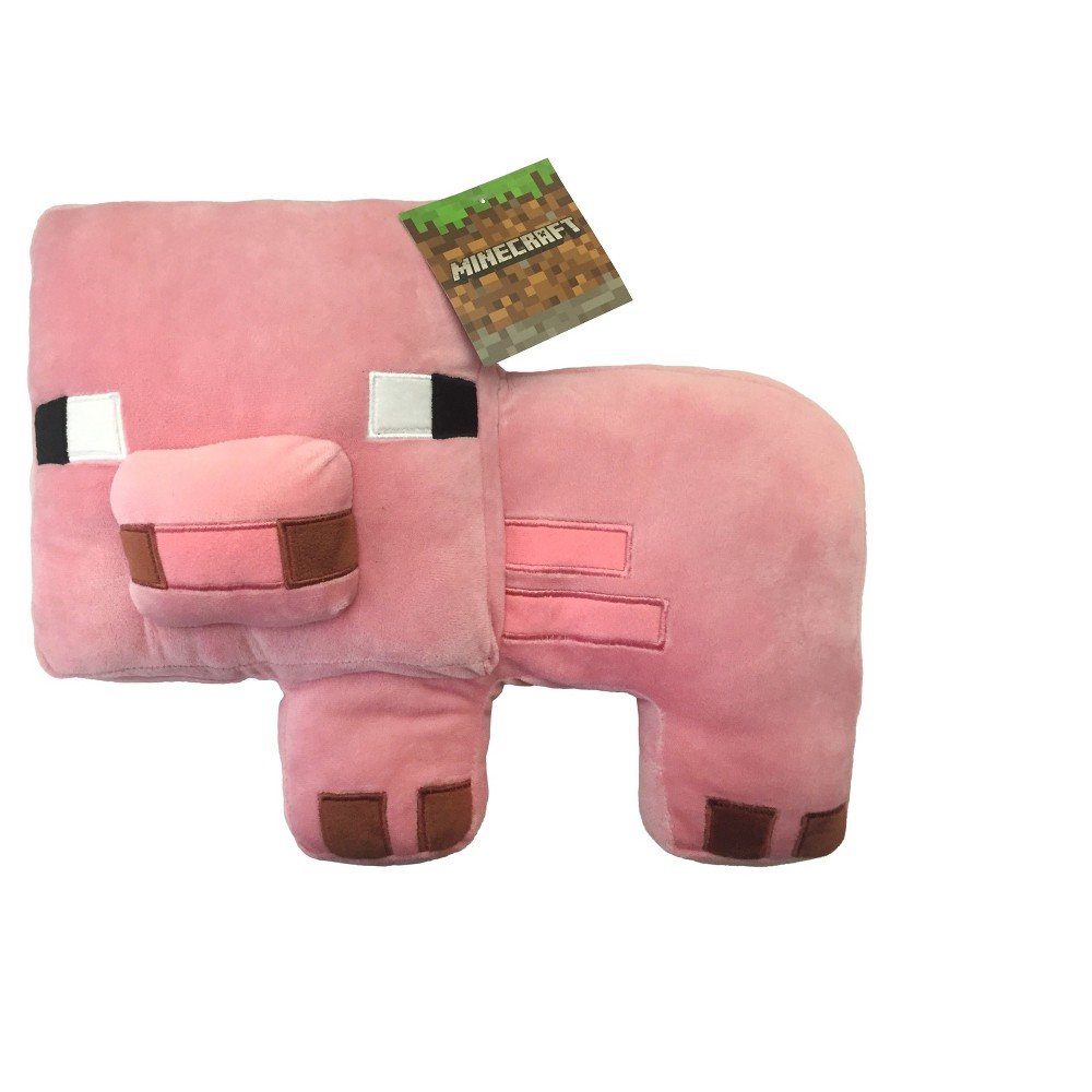 Image of Minecraft Pink Throw Pillow