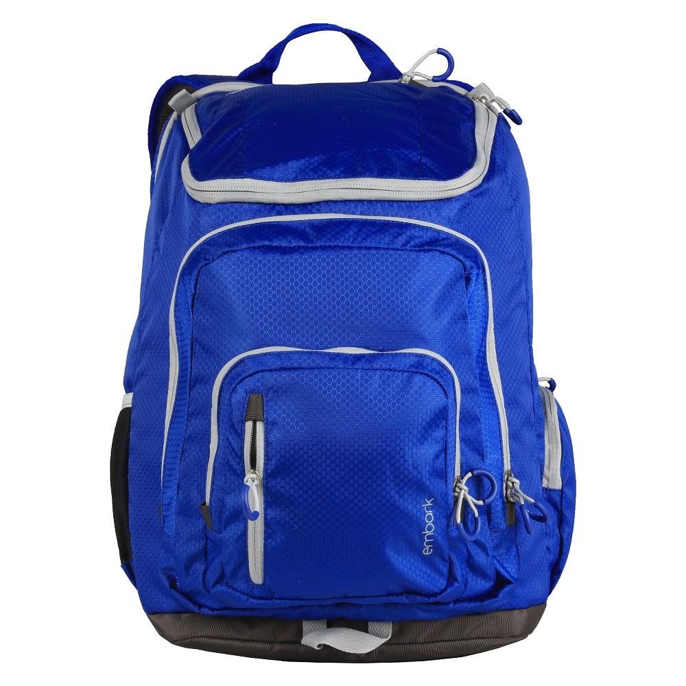 """Image of """"19"""""""" Jartop Elite Backpack - Navy/Gray - Embark , Blue/Grey"""""""