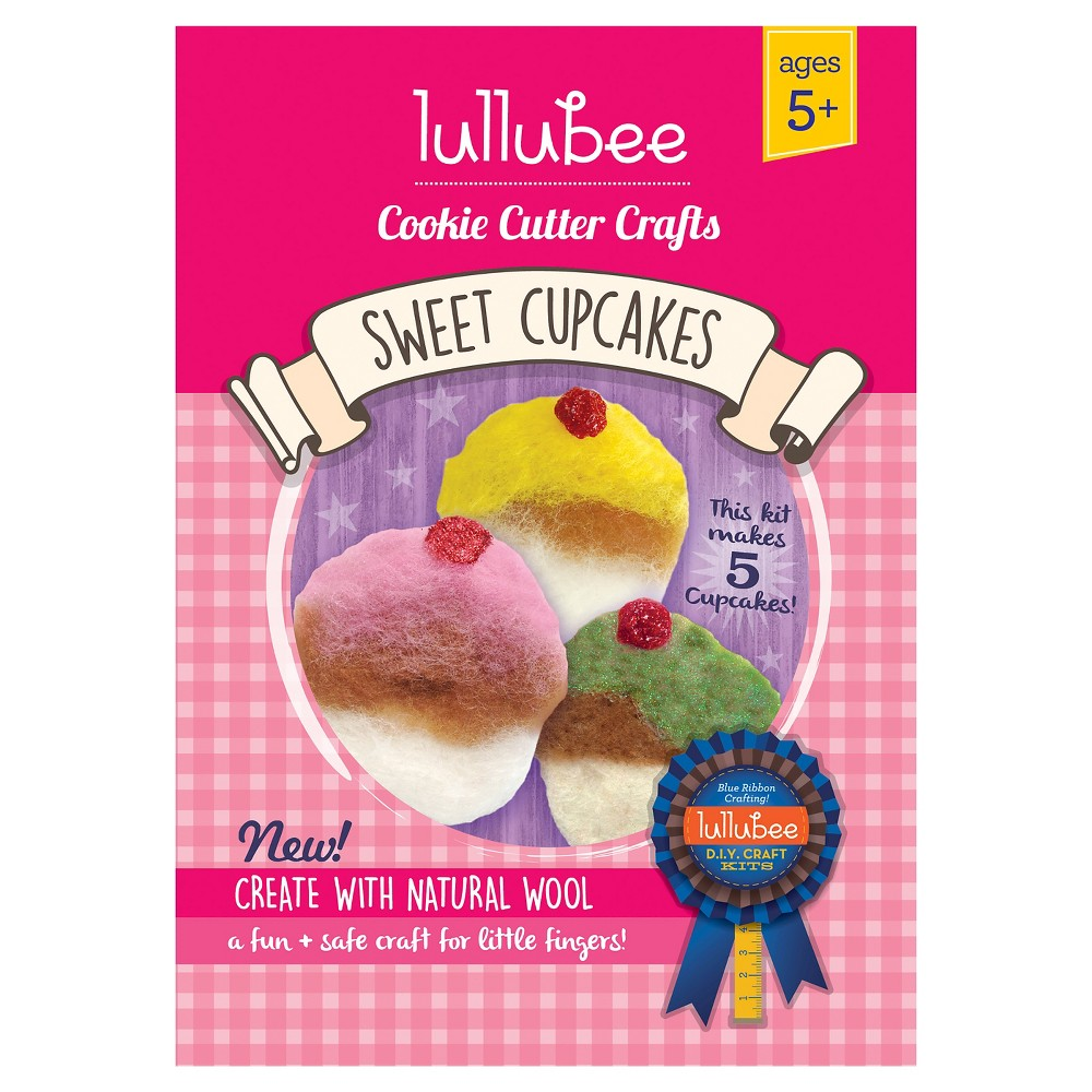 Lullubee Cookie Cutter Wool Craft Set Cupcake, Multi-Colored
