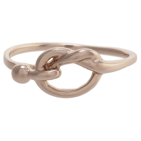 Women's Rose Gold over Sterling Silver Love Knot Ring - image 1 of 2