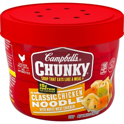 Campbell's Chunky Classic Chicken Noodle Soup Microwaveable Bowl - 15.25oz