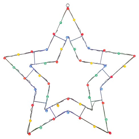 "48"" x 48"" LED5 Pt Star C7 Motif - Multicolored - image 1 of 1"