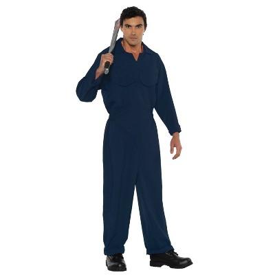Adult Boiler Suit Dark Blue Halloween Costume One Size