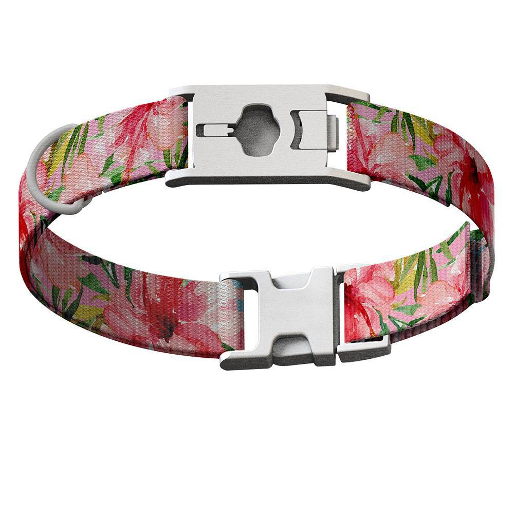 Whistle Go Dog Collar M Floral