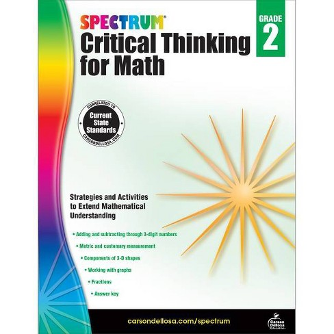 Spectrum Critical Thinking for Math, Grade 2 - (Paperback) - image 1 of 1