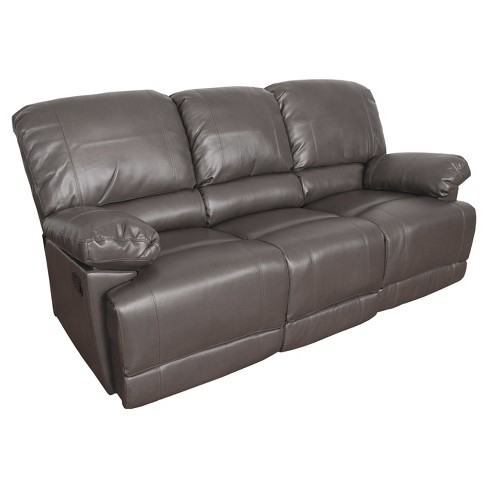 Lea 2pc Brownish Gray Bonded Leather Reclining Target