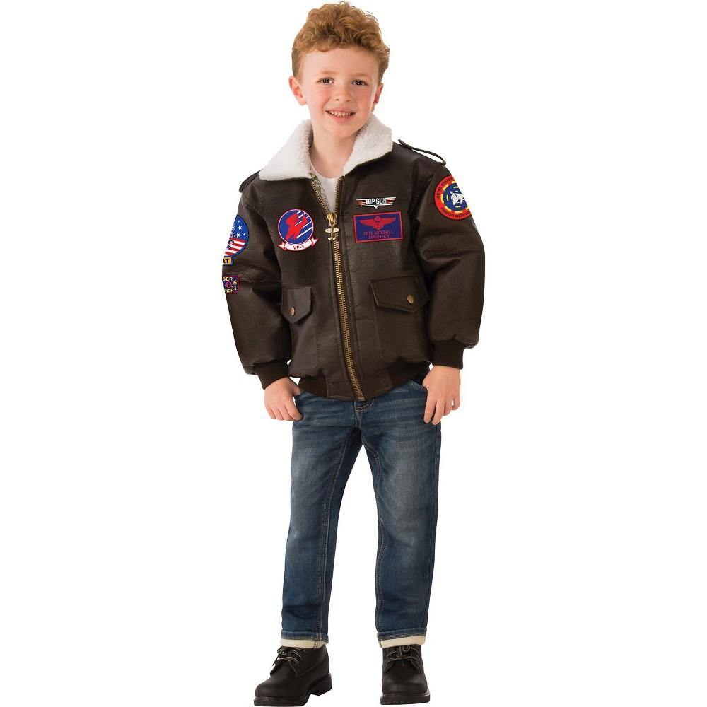 Top Gun Kids' Bomber Jacket Halloween Costume L - Rubie's, Boy's, Multicolored