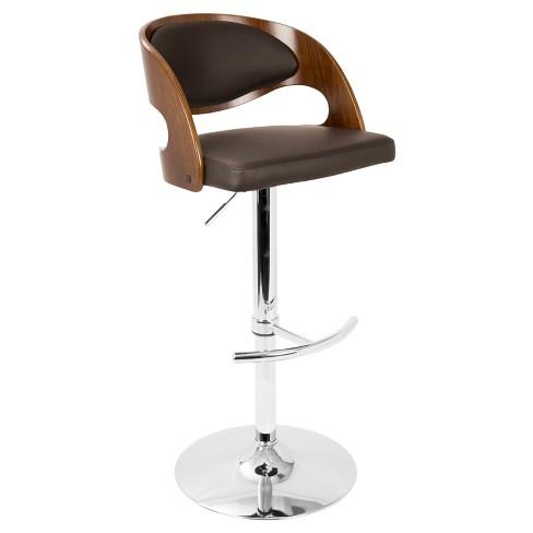 Pino Mid - Century Modern Adjustable Barstool with Swivel - Lumisource - image 1 of 4