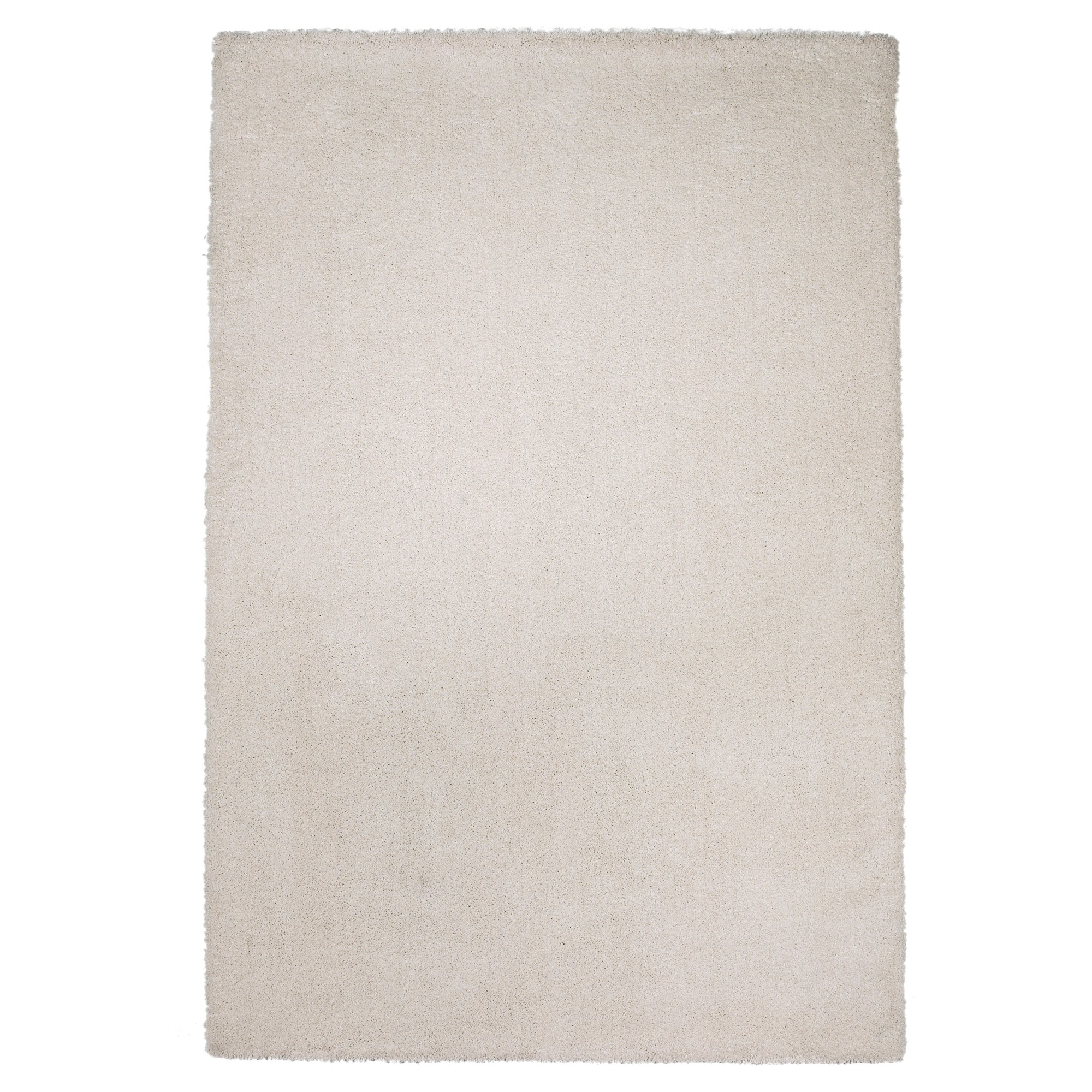 Ivory Solid Woven Area Rug 8'x11' - Kas Rugs, White