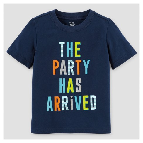 Baby Boys' Birthday T-Shirt - Just One You™ Made by Carter's® Navy 18M - image 1 of 1
