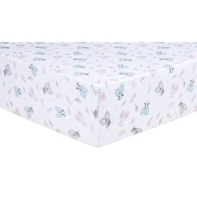 Trend Lab Fitted Crib Sheet - Feathered Friends