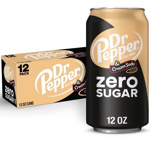 Dr Pepper Zero Sugar Cream Soda - 12pk/12 fl oz Cans - image 1 of 4