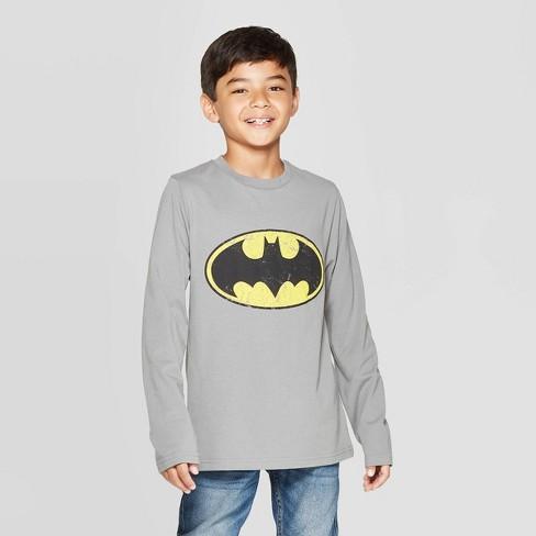 Boys' Batman Long Sleeve T-Shirt - Charcoal - image 1 of 3