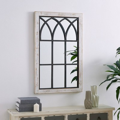 37.5 x24  Vista Arched Window Mirror White - FirsTime
