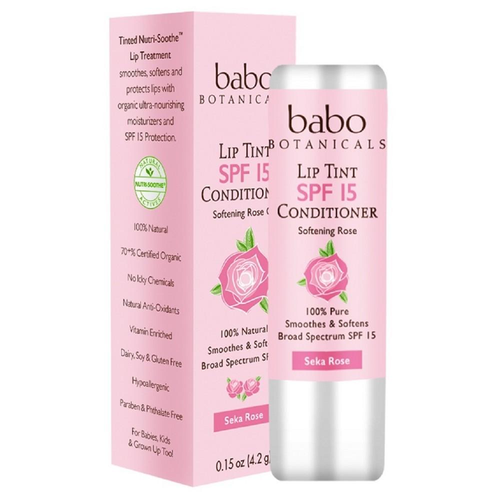 Image of Babo Bototanicals Lip Tint Conditioner - Seka Rose - SPF 15 - .15oz