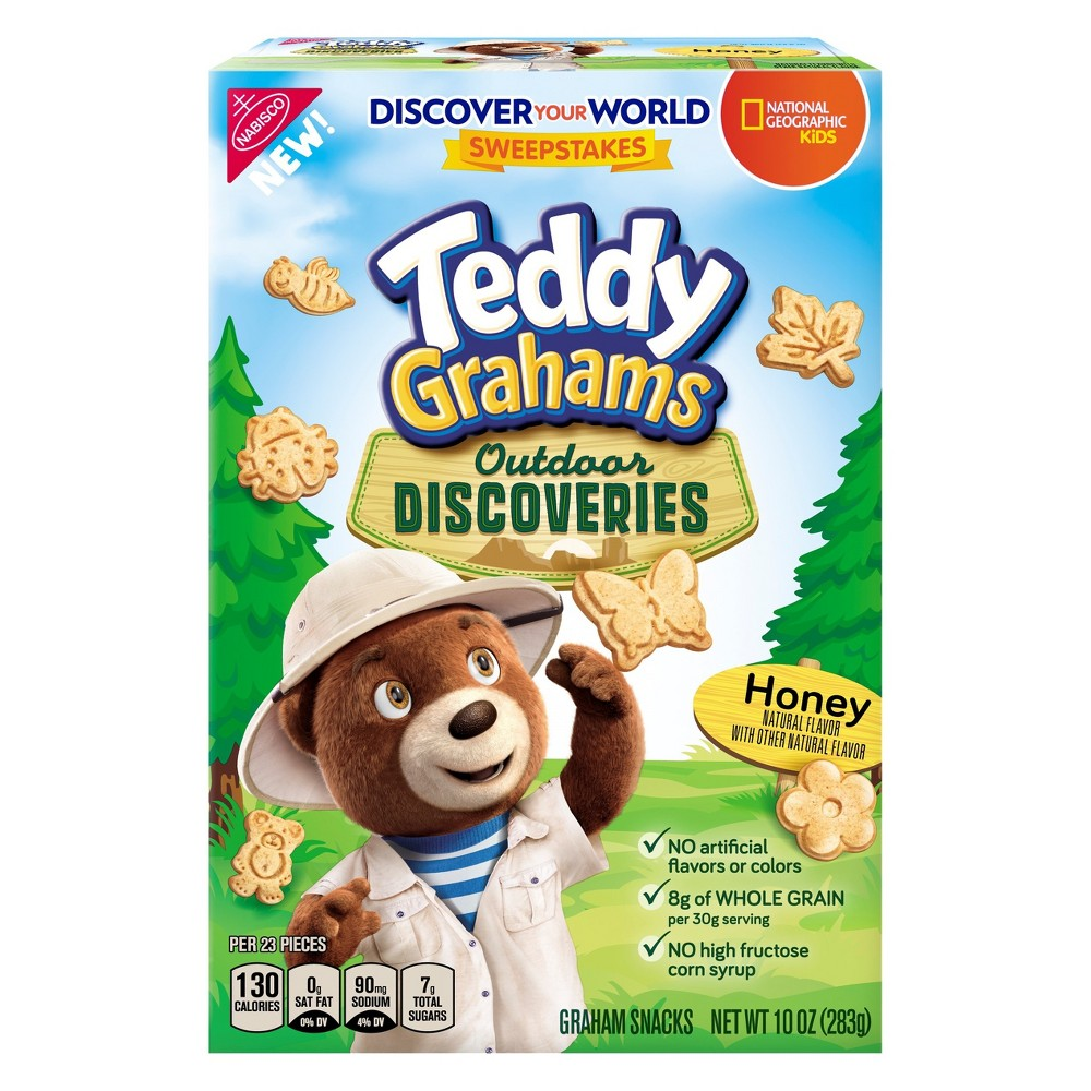 Teddy Grahams Outdoor Discoveries Honey Flavored Graham Snacks - 10oz