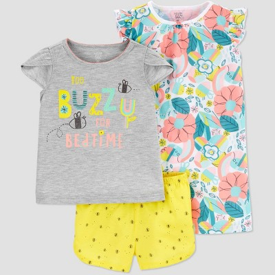 Baby Girls' 3pc 'Bee' Pajama Set - Just One You® made by carter's Yellow 12M
