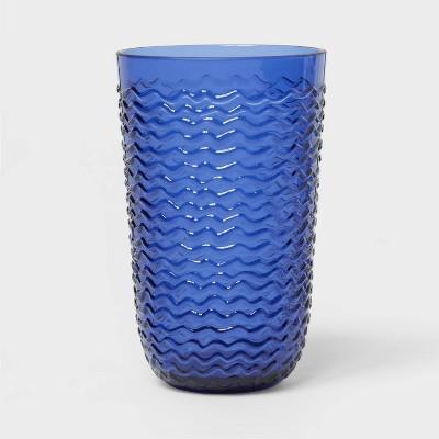 19oz Plastic Wave Texture Tall Tumbler Dark Blue - Opalhouse™
