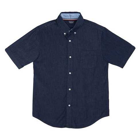 French Toast Boys' Short Sleeve Uniform Button-Down Shirt - Navy 8 - image 1 of 1