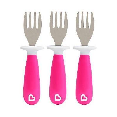 Munchkin Raise Toddler Forks - Pink 3pk