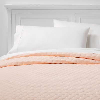 Twin/Twin XL Jersey Quilt Blush Peach - Room Essentials™