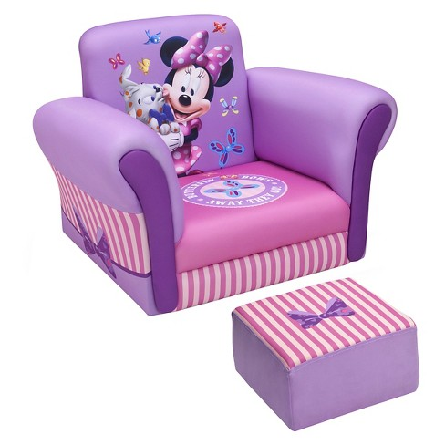 Upholstered Chair With Ottoman Disney Minnie Mouse Delta