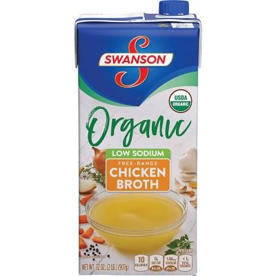Swanson Organic Low Sodium Free Range Chicken Broth - 32oz