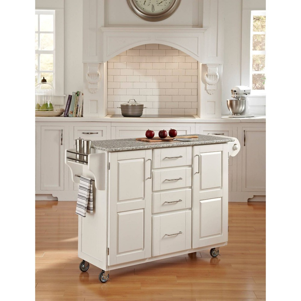 Kitchen Carts And Islands with Granite Top Gray - Home Styles