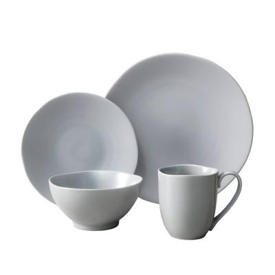 16pc Ceramic Heirloom Dinnerware Set Gray - Fortessa Tableware Solutions