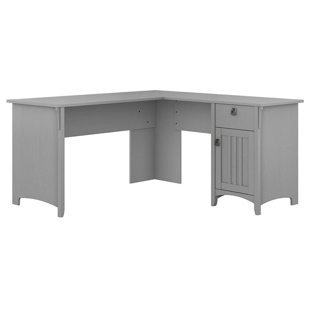 Salinas L Shaped Desk with Storage Gray - Bush Furniture