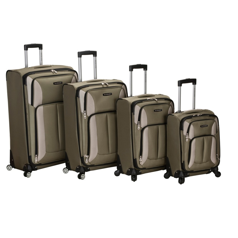 Rockland Impact 4pc Spinner Luggage Set - Olive (Green)